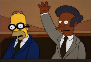 Homer with glasses